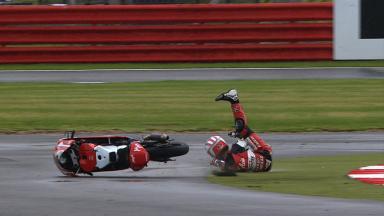 Silverstone 2012 - Moto3 - FP1 - Action - Zulfahmi Khairuddin - Crash