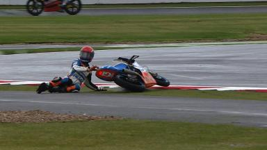Silverstone 2012 - Moto3 - FP1 - Action - Jasper Iwema - Crash