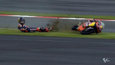 Silverstone 2012 - Moto3 - FP1 - Action - Arthur Sissis - Crash