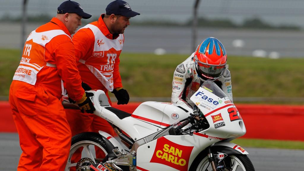 Atonelli Niccoló, San Carlo Gresini Moto3, Silverstonen FP1