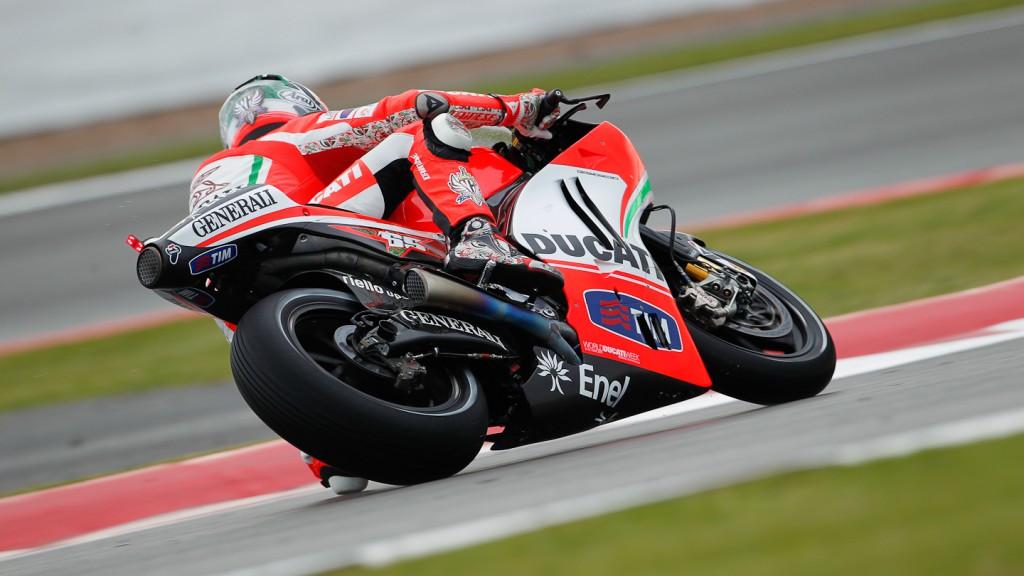 Nicky Hayden, Ducati Team, Silverstone FP1