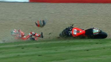 Silverstone 2012 - MotoGP - QP - Action - Nicky Hayden - Crash