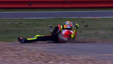 Silverstone 2012 - MotoGP - QP - Action - Valentino Rossi - Crash