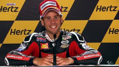 Silverstone 2012 - MotoGP - QP - Interview - Alvaro Bautista