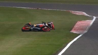 Silverstone 2012 - Moto2 - FP3 - Action - Yuki Takahashi - Crash