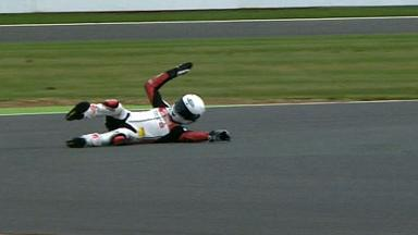 Silverstone 2012 - Moto2 - QP - Action - Max Neukirchner - Crash