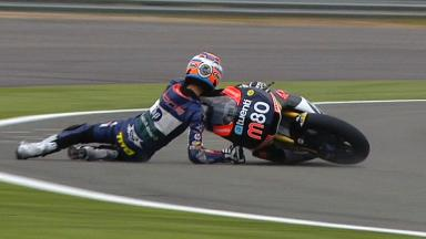 Silverstone 2012 - Moto2 - QP - Action - Esteve Rabat - Crash