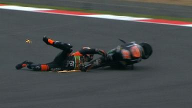 Silverstone 2012 - Moto3 - FP3 - Action - Niklas Ajo - Crash