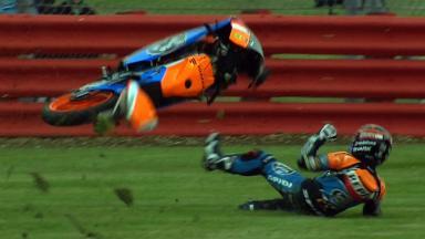 Silverstone 2012 - Moto3 - FP3 - Action - Miguel Oliveira - Crash