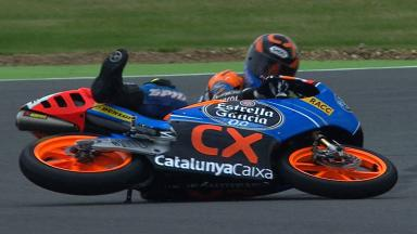 Silverstone 2012 - Moto3 - FP3 - Action - Alex Rins - Crash