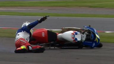 Silverstone 2012 - Moto3 - QP - Action - Fraser Rogers - Crash