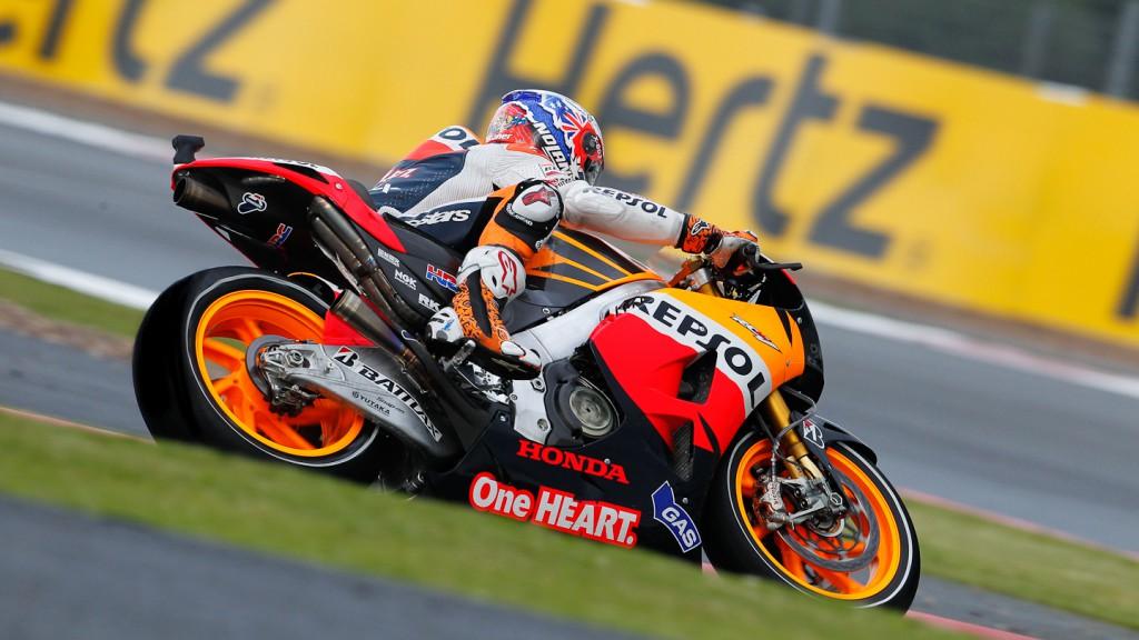 Casey Stoner, Repsol Honda Team, Silverstone FP3