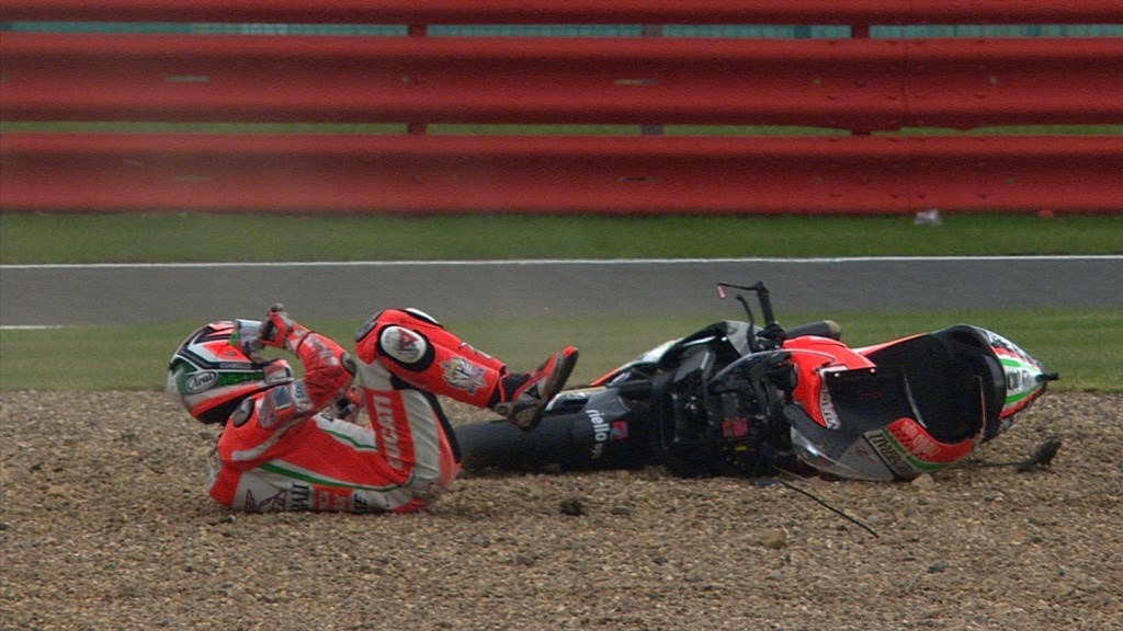 Nicky Hayden, Ducati Team - QP Crash