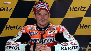 Silverstone 2012 - MotoGP - Race - Interview - Casey Stoner