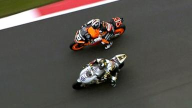 Silverstone 2012 - Moto2 - Race - Action - Redding and Marquez