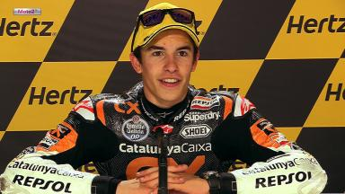 Silverstone 2012 - Moto2 - Race - Interview - Marc Marquez
