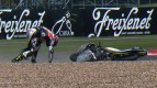 Silverstone 2012 - Moto3 - Race - Action - Louis Rossi - Crash