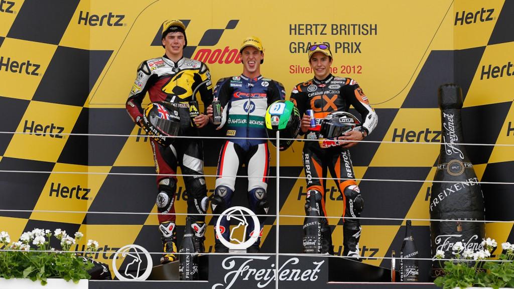 Redding, Espargaro, Marquez, Marc VDS Racing Team, Pons 40 HP Tuenti, Team CatalunyaCaixa Repsol, Silverstone RAC