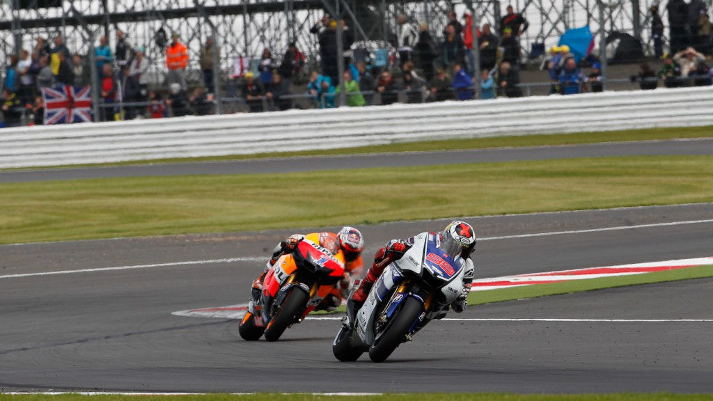 Jorge Lorenzo, Casey Stoner, Yamaha Factory Racing, Repsol Honda Team, Silverstone RAC