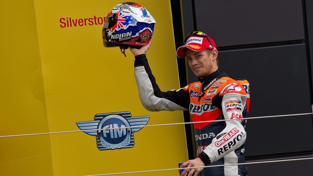 Casey Stoner, Repsol Honda Team, Silverstone RAC