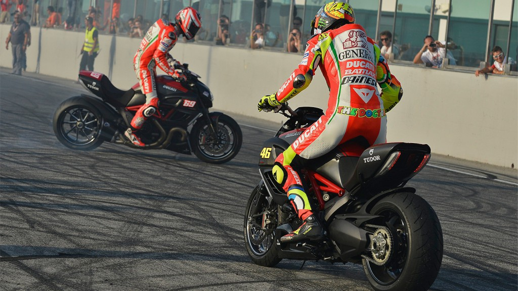 Hayden, Rossi, Ducati Team, World Ducati Week