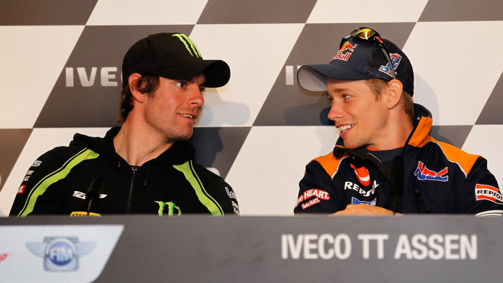 Ccal Crutchlow, Casey Stoner, Monster Yamaha Tech 3, Repsol Honda Team,  Iveco TT Assen Press Conference