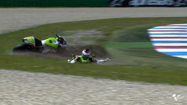 Assen 2012 - MotoGP - FP2 - Action - Hector Barbera - Crash