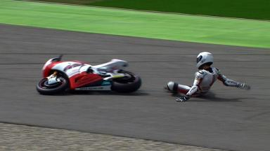 Assen 2012 - Moto2 - FP1 - Action - Max Neukirchner - Crash