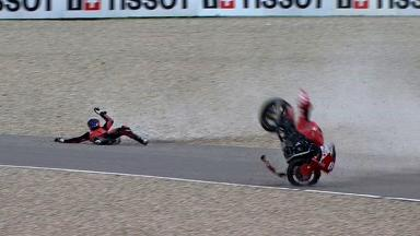 Assen 2012 - Moto2 - FP2 - Action - Ricard Cardus - Crash
