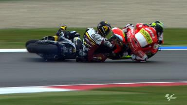 Assen 2012 - Moto2 - FP2 - Action - Scott Redding and Toni Elias - Crash
