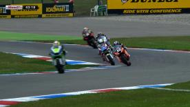 In the second free practice session of the Iveco TT Assen it was Pons 40 HP Tuenti's Pol Espargaró who dominated the field ahead of Andrea Iannone and Dominique Aegerter.