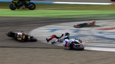 Assen 2012 - MotoGP - Race - Action - Lorenzo and Bautista - Crash