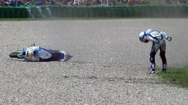 Assen 2012 - MotoGP - Race - Action - Yonny Hernandez - Crash