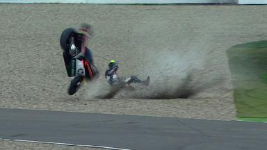 Assen 2012 - Moto2 - Race - Action - Pol Espargaro - Crash