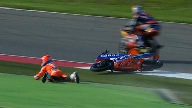 Assen 2012 - Moto3 - Warm Up - Action - Jasper Iwema - Crash