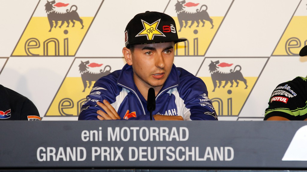 Jorge Lorenzo, Yamaha Factory Racing, eni Motorrad Grand Prix Deutschland Press Conference