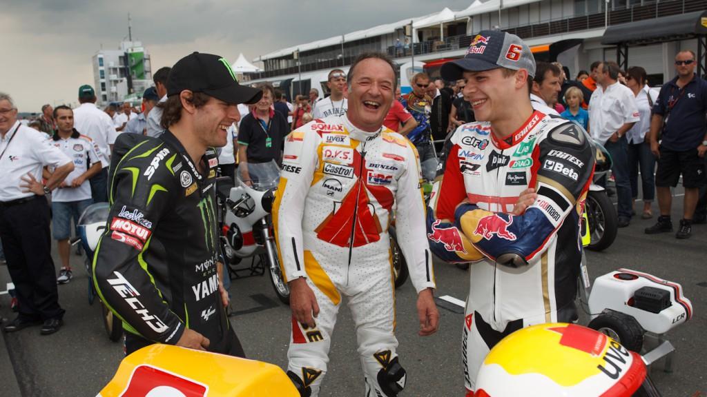 Cal Crutchlow, Helmut Bradl, Stefan Bradl, Sachsenring Preevent