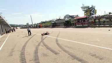 Sachsenring 2012 - MotoGP - FP1 - Action - Mattia Pasini - Crash