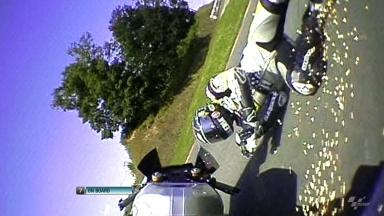 Sachsenring 2012 - Moto2 - FP1 - Action - Thomas Luthi - Crash