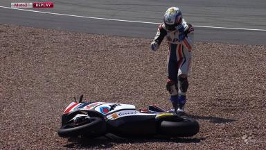 Sachsenring 2012 - Moto2 - FP1 - Action - Ratthapark Wilairot - Crash