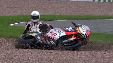 Sachsenring 2012 - Moto2 - FP3 - Action - Alessandro Andreozzi - Crash