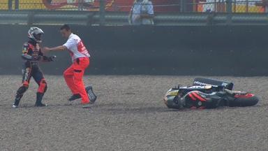 Sachsenring 2012 - Moto2 - FP3 - Action - Yuki Takahashi - Crash