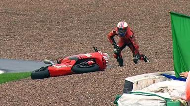 Sachsenring 2012 - Moto2 - QP - Action - Ricard Cardus - Crash