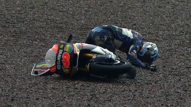 Sachsenring 2012 - Moto2 - QP - Action - Axel Pons - Crash