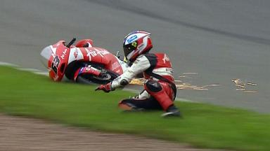 Sachsenring 2012 - Moto3 - FP3 - Action - Zulfahmi Khairuddin - Crash