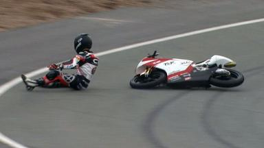 Sachsenring 2012 - Moto3 - FP3 - Action - Alan Techer - Crash
