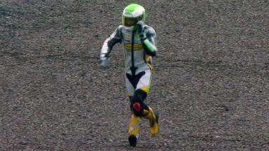 Sachsenring 2012 - Moto3 - QP - Action - Luca Gruenwald - Crash