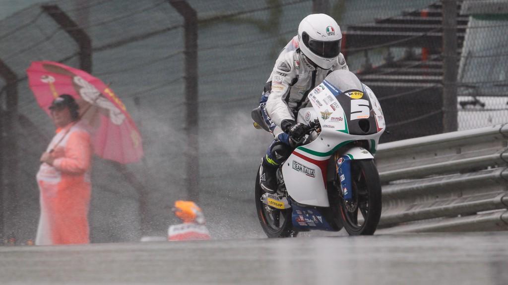 Romano Fenati, Team Italia FMI, Sachsenring QP
