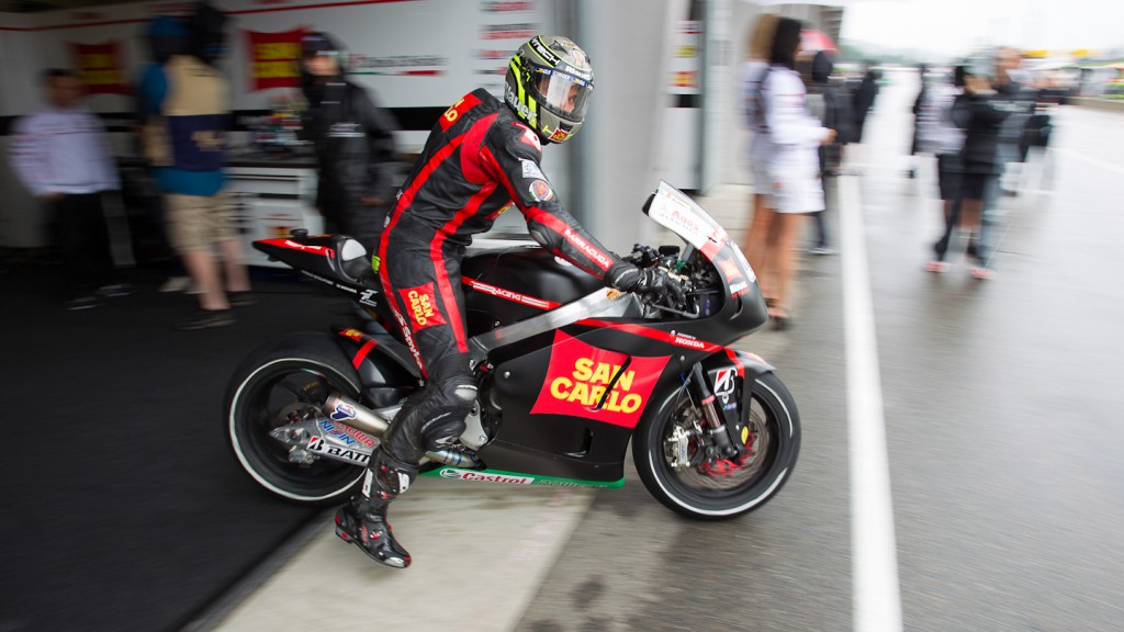 Michele Pirro, San Carlo Honda Gresini, Sachsenring QP