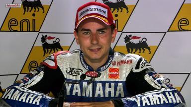 Sachsenring 2012 - MotoGP - Race - Interview - Jorge Lorenzo
